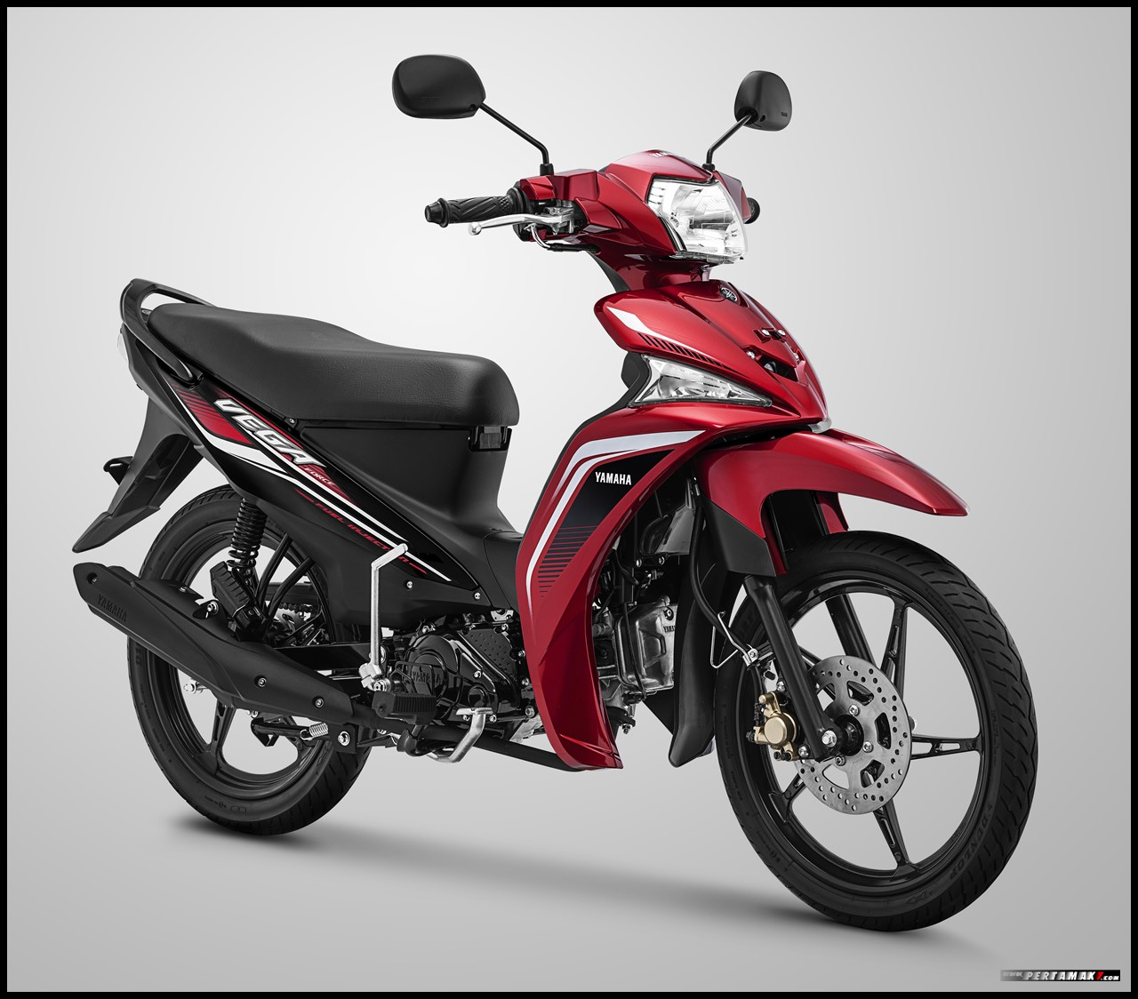 Vega Force Metallic Red merah Hitam