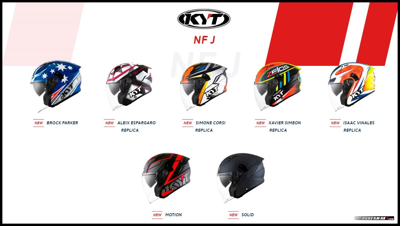 Warna Helm KYT NFJ Open Face Premium