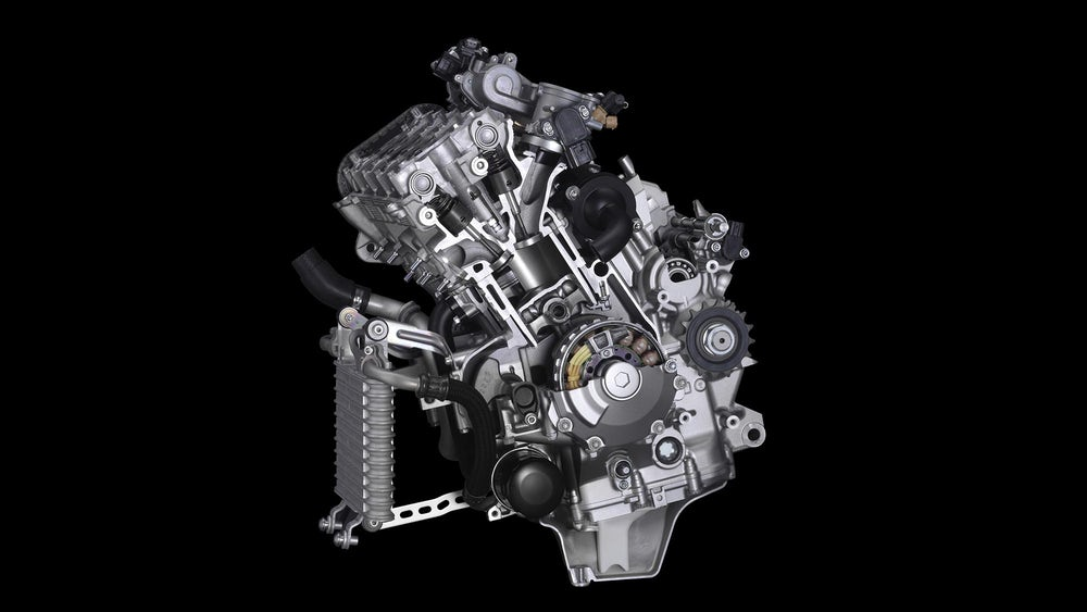 Yamaha YZF-R1M engine