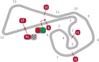 layout sirkuit Sachsenring Jerman