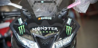 led headlight yamaha R15 monster energy motogp