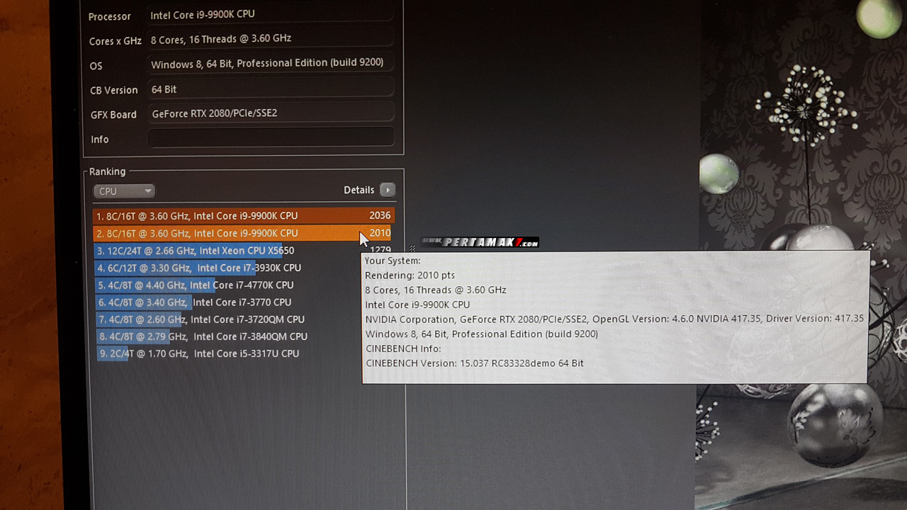 skor cinebench r15 ROG Strix GL12CX