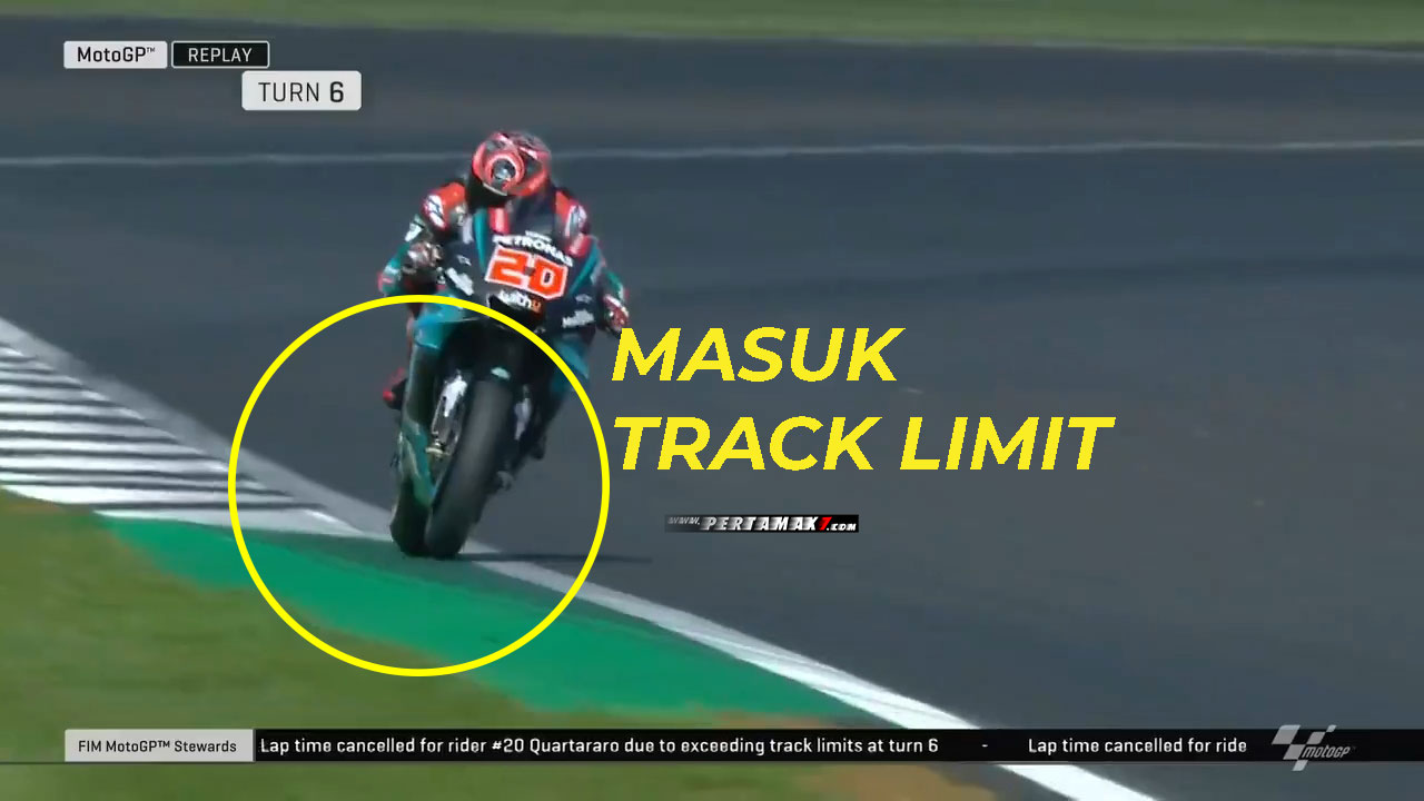 track limit fabio quartararo FP2 MotoGP UK 2019