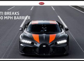 BUGATTI BREAKS THE 300 MPH BARRIER