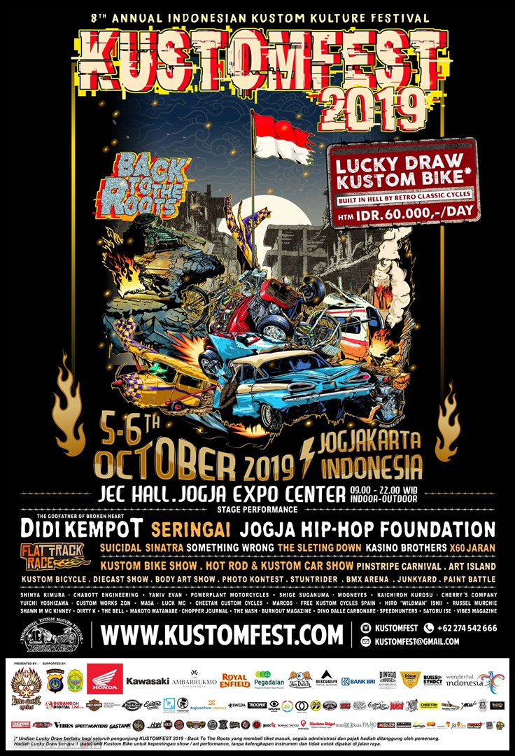 POSTER KUSTOMFEST 2019 - BACK TO THE ROOTS