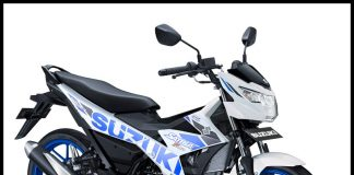 Suzuki All New Satria F150 Warna White Blue putih biru