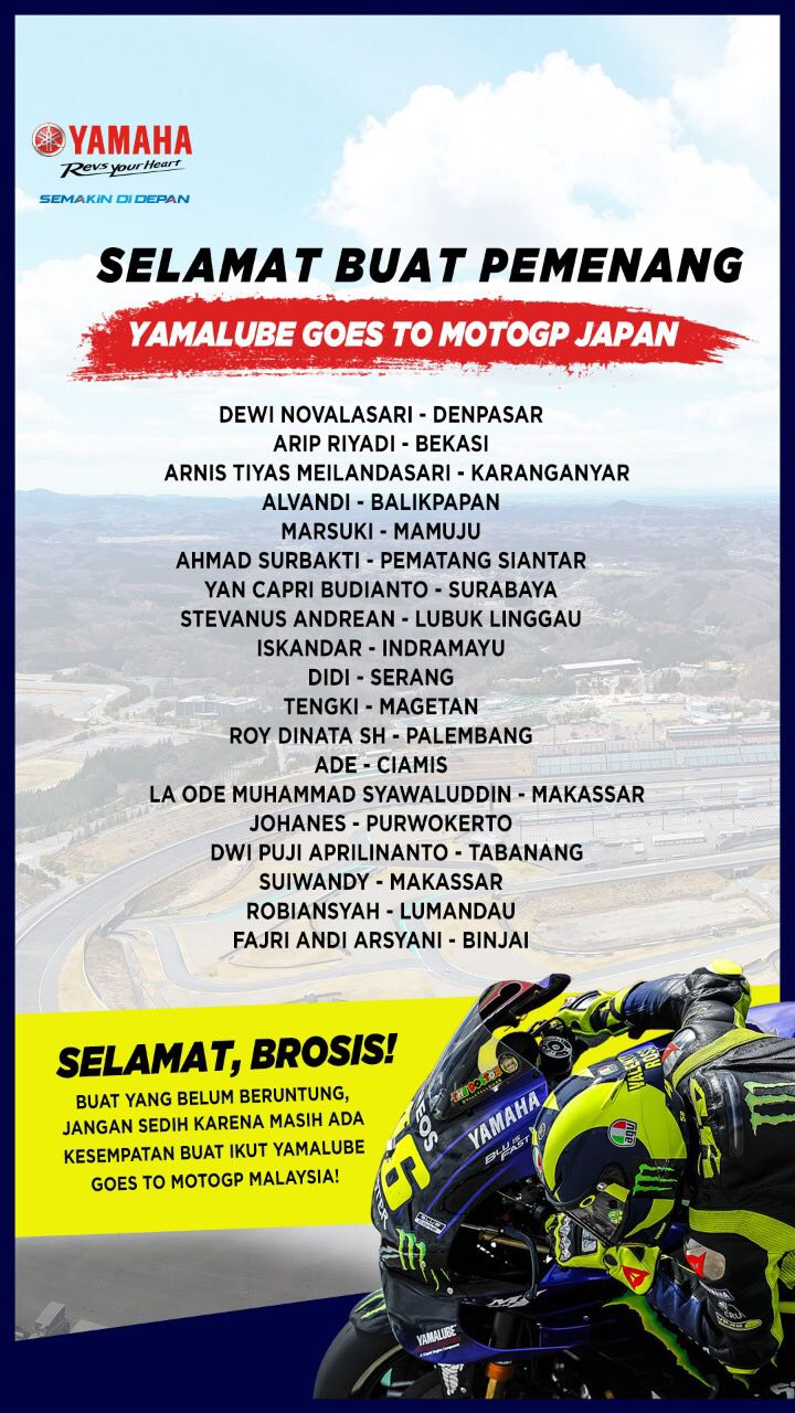 yamalube Goes to MotoGP Japan