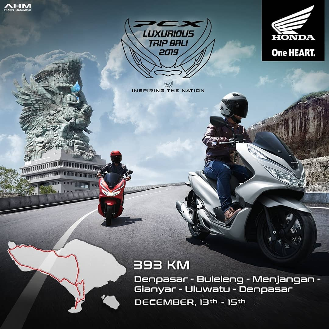 Touring Honda PCX Luxurious Trip Bali