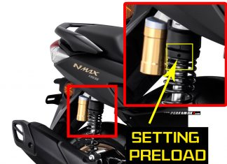 Cara Setting Preload Suspensi Yamaha All New NMAX ABS
