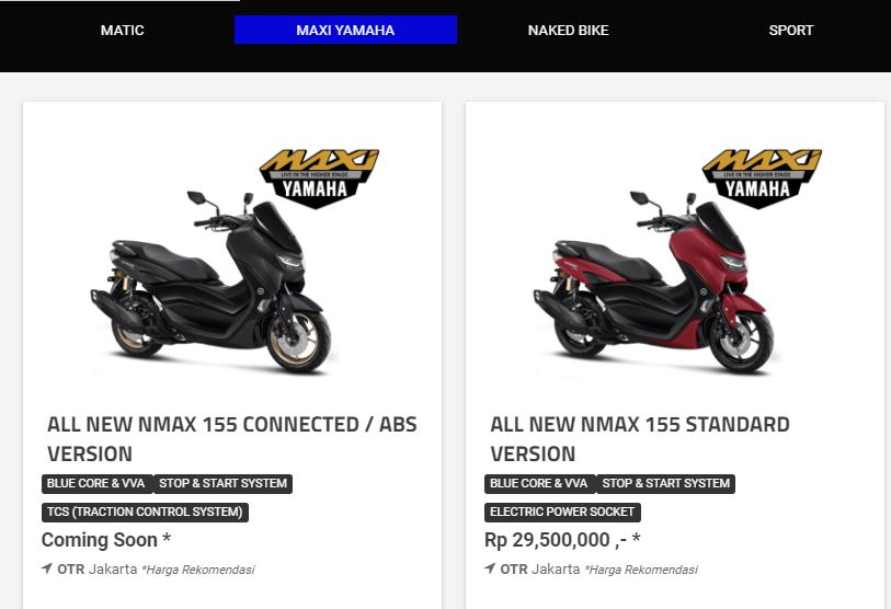 Harga Resmi Yamaha All New NMAX 155 Standard Version 2020