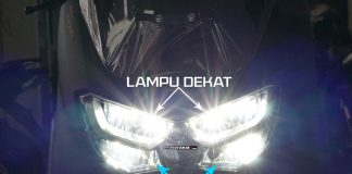 Nyala Lampu Jauh Yamaha All New NMAX HI Beam