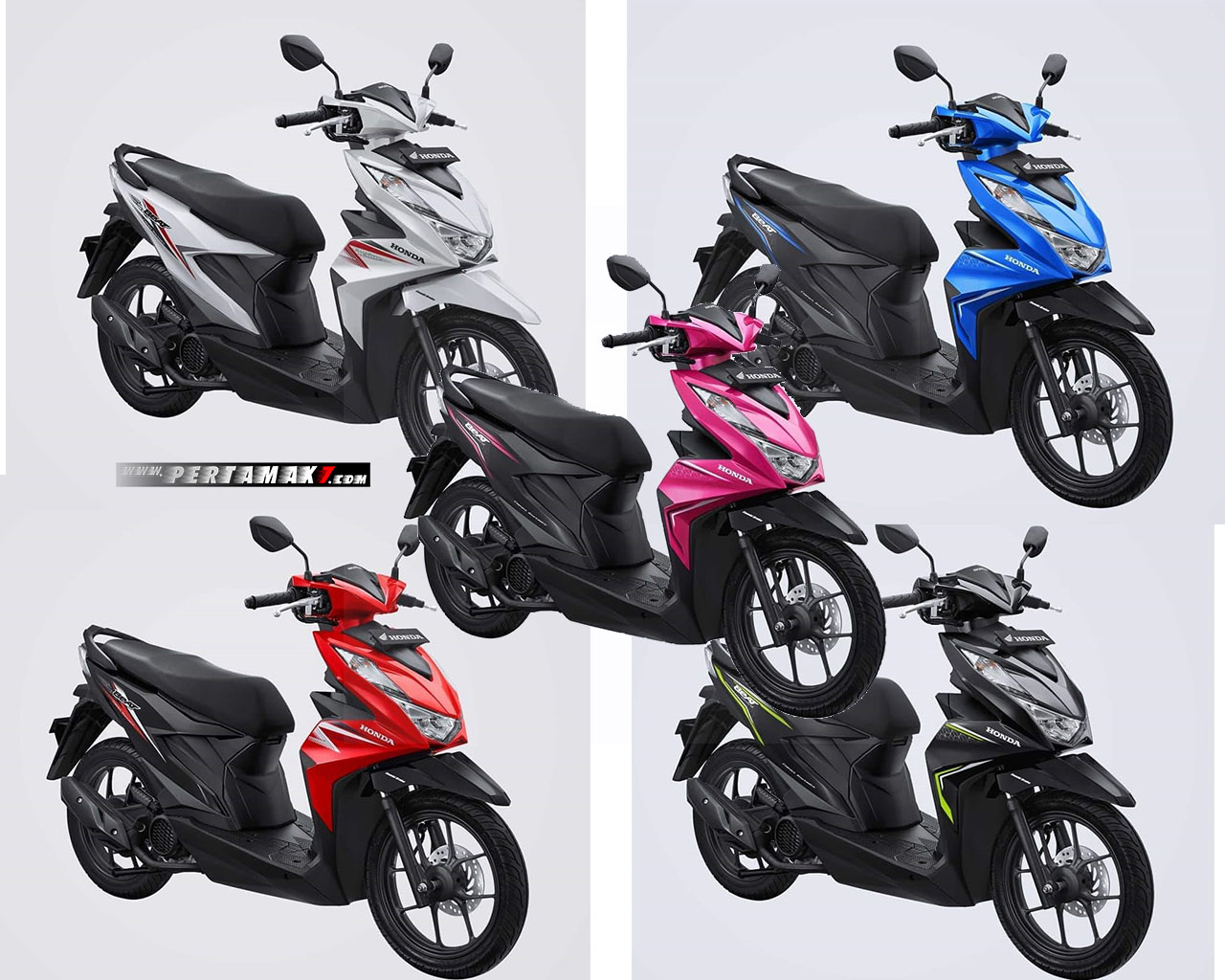 Pilihan Warna Honda BeAT Facelift 2020