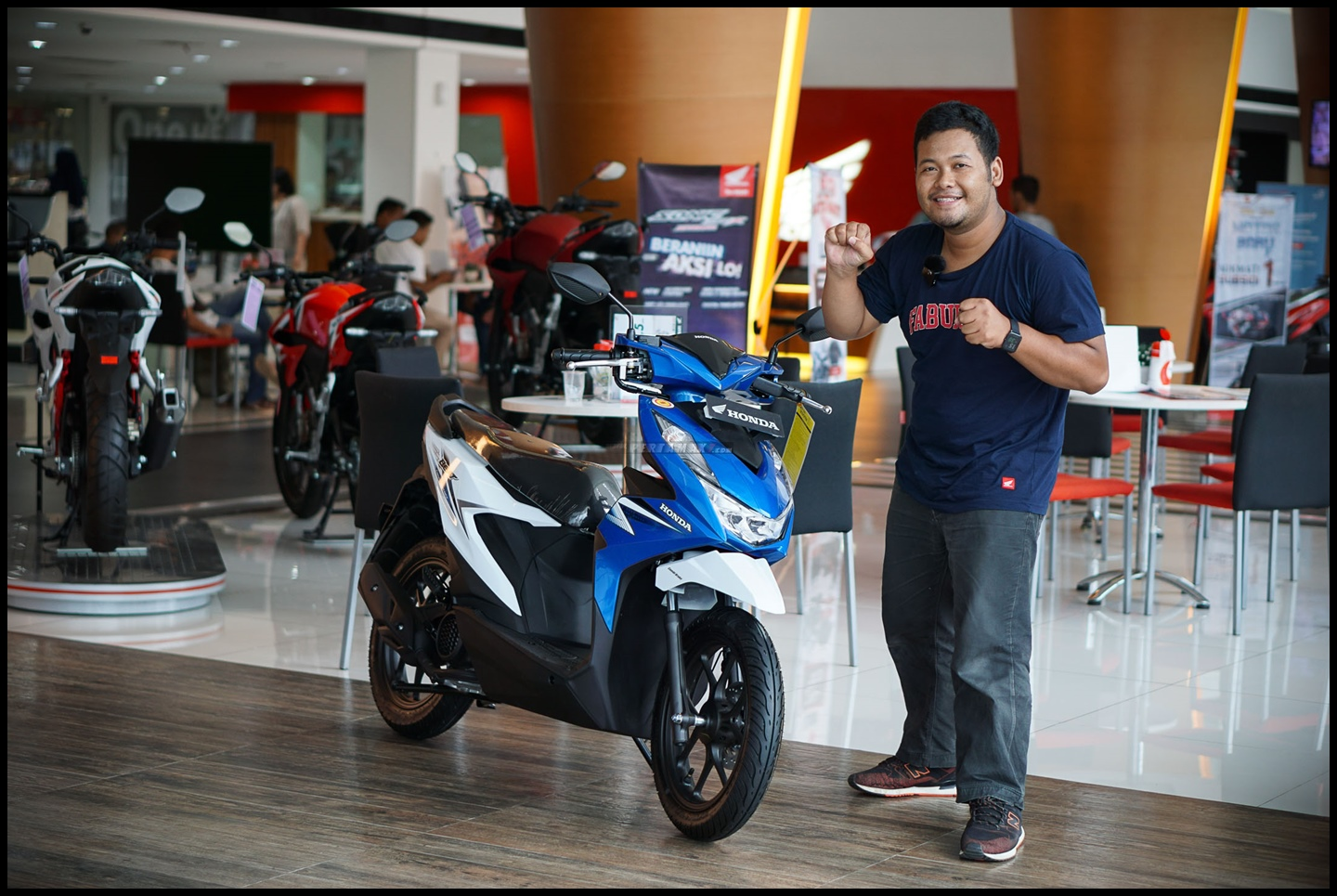 Bertemu Honda All New BEAT 2020 Putih Biru Jogja P7