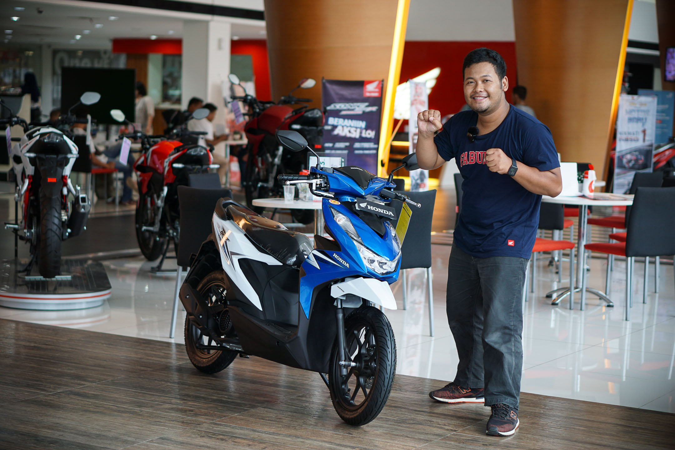 Bertemu Honda All New BEAT 2020 Putih Biru Jogja