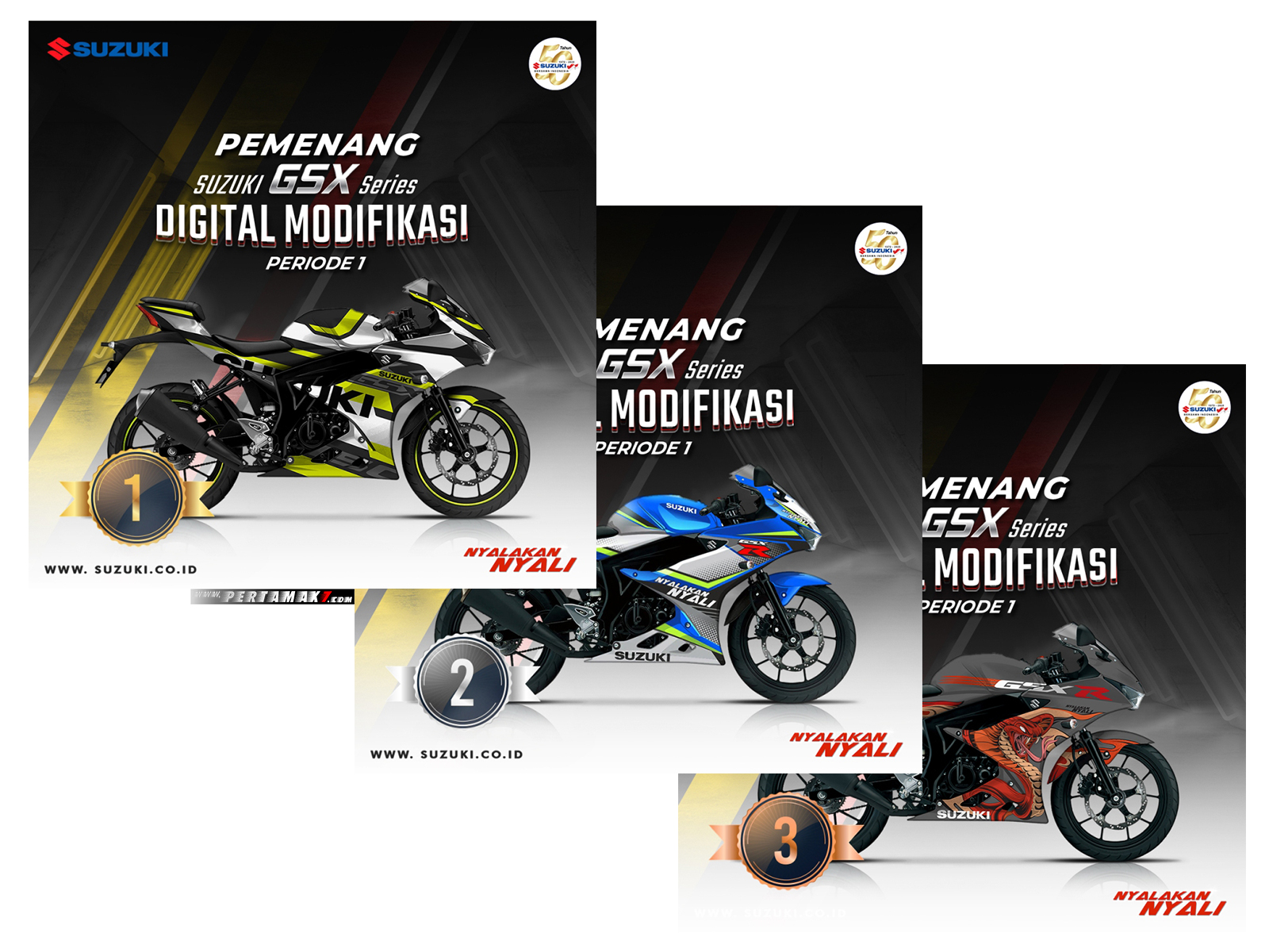 Juara Modifikasi Digital Suzuki GSX-R150 Periode-1
