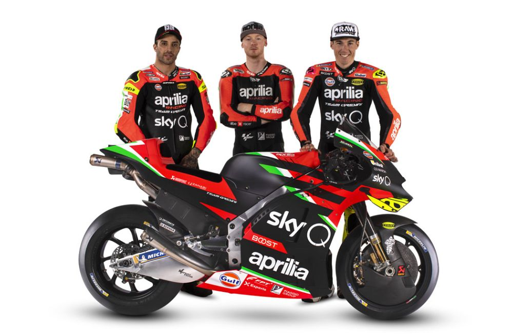Launching Aprilia RS-GP MotoGP 2020