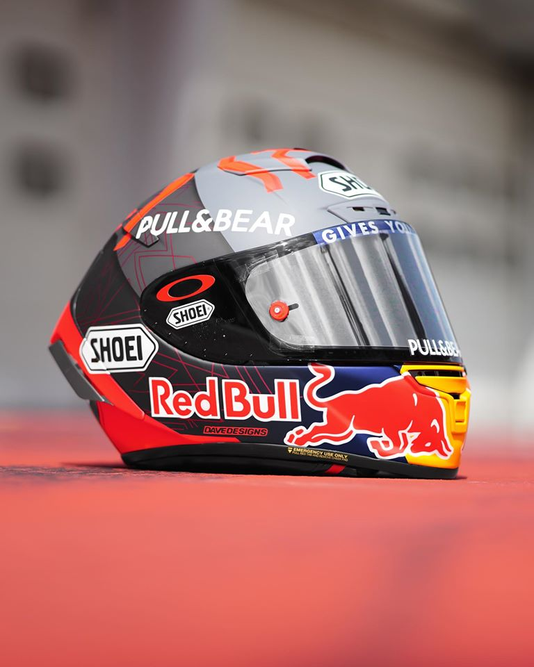 Helm Shoei Marc Marquez Winter Test MotoGP 2020