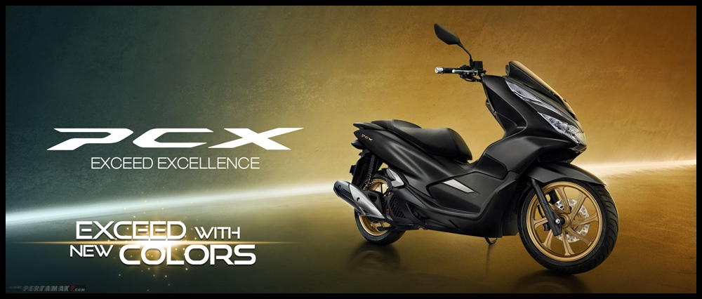 Wallpaper Honda PCX 2020 Black Gold