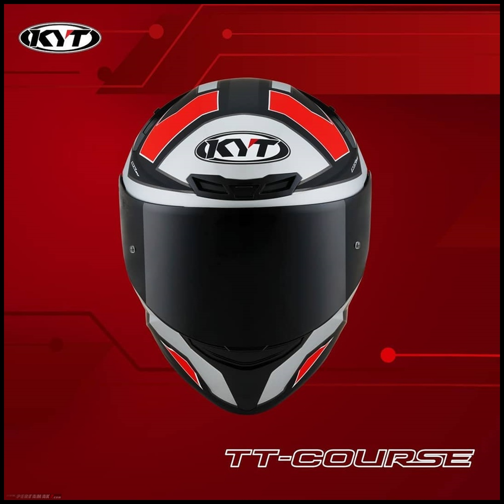 Helm KYT TT Course Electron Matt Grey Red