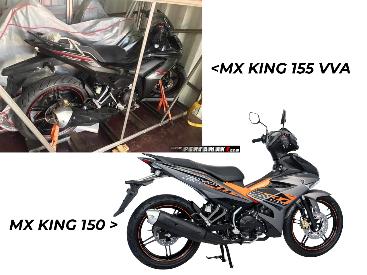 Yamaha MX KING 155 VVA Datang VS MX KING 150