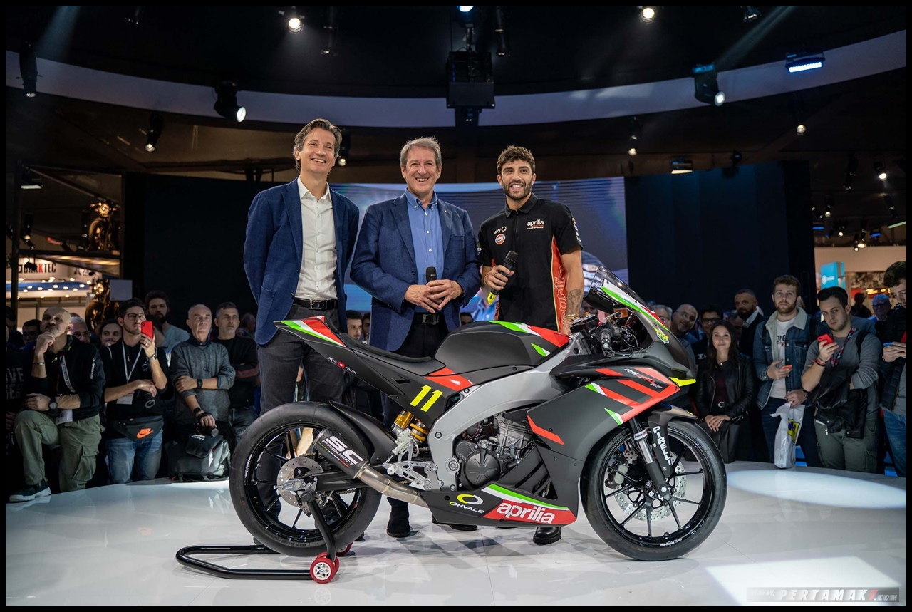 Launching Aprilia RS250 SP Ohvale with Andrea Iannone