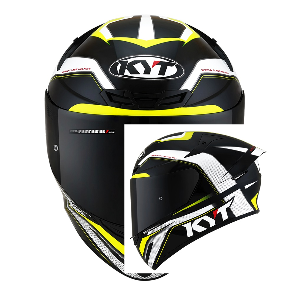 KYT TT Course Grand Prix Black Yellow Indonesia