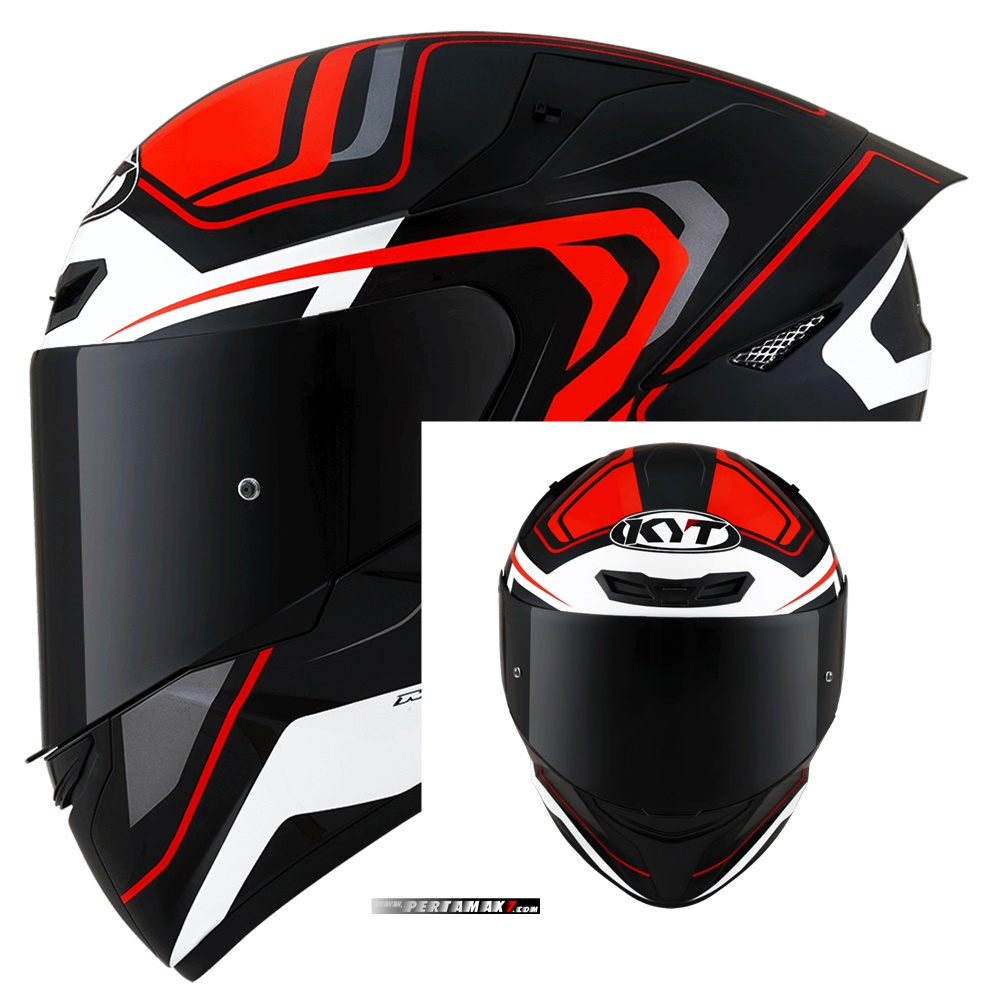 KYT TT Course Overtech Black Orange Indonesia