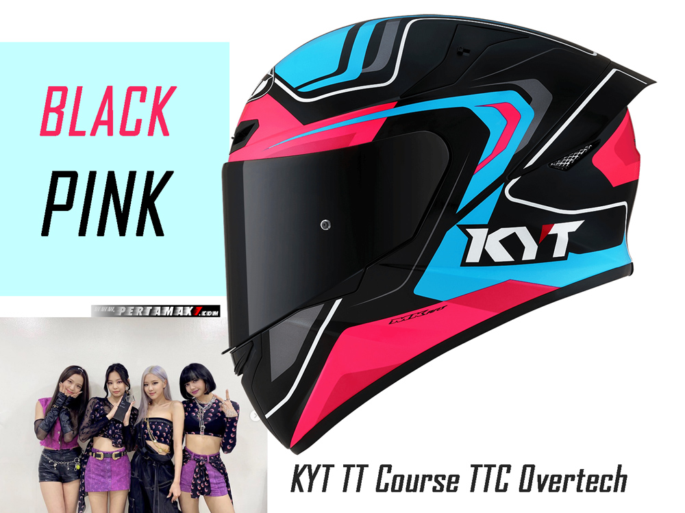 KYT TT Course TTC Overtech Black Pink Indonesia By MK Art Productions