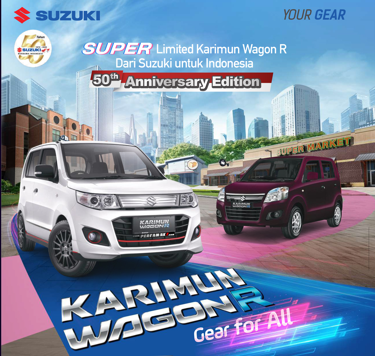 Hero Suzuki Karimun Wagon R 50th Anniversary Edition
