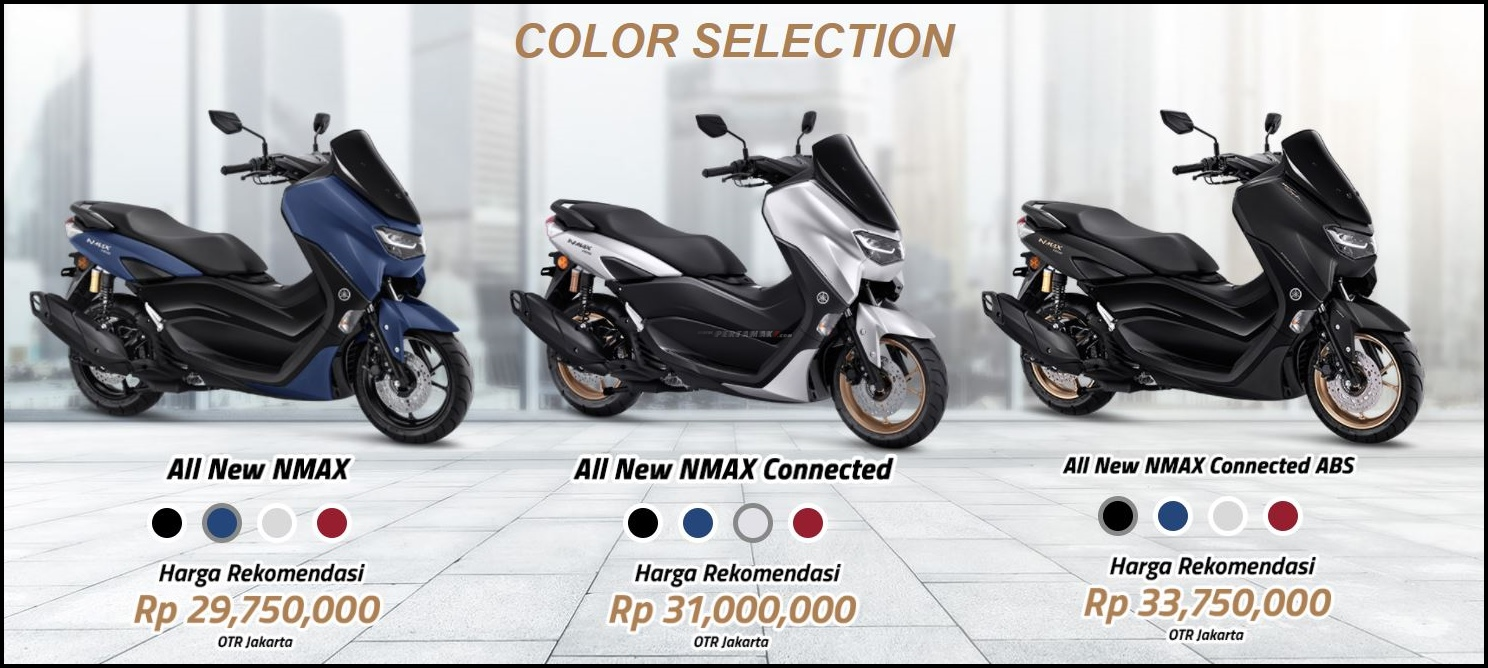 Beda Fitur Yamaha NMAX STD, Connected dan ABS