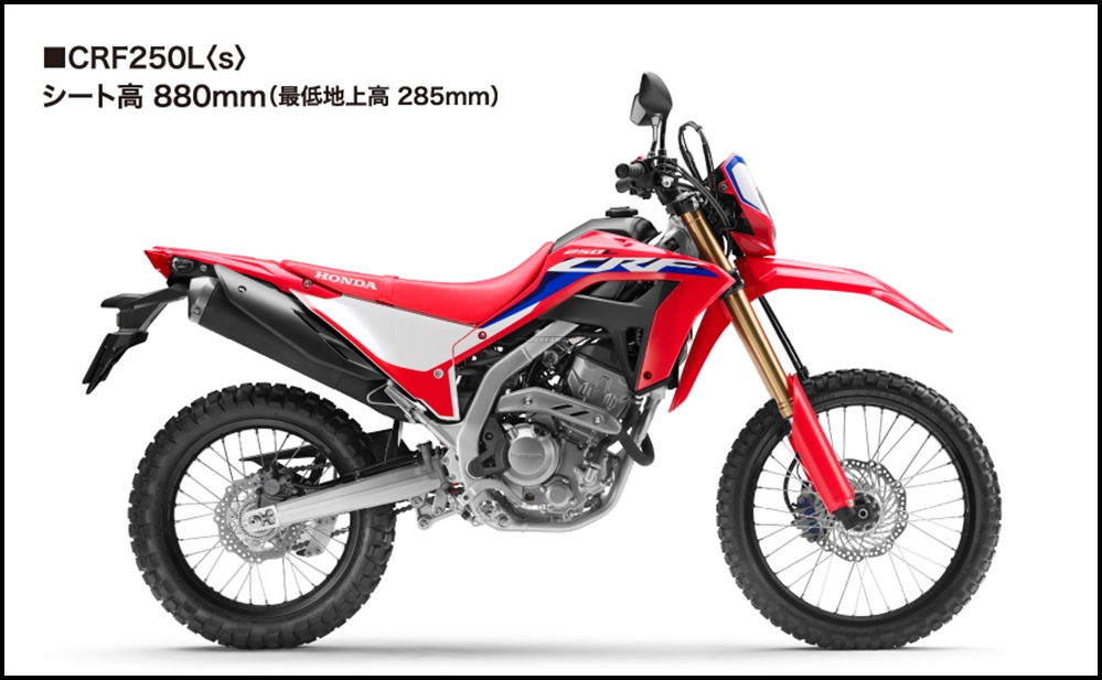Update Detail Honda CRF250L MY2021 Terbaru