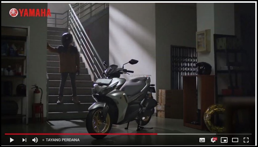 Launching Yamaha New Aerox 155 Connected Facelift 2021