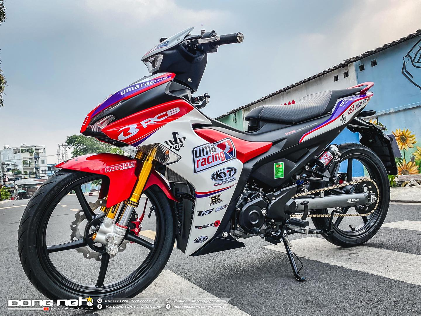 Modif Yamaha MX KING 155 Upside Down RCB Hedon